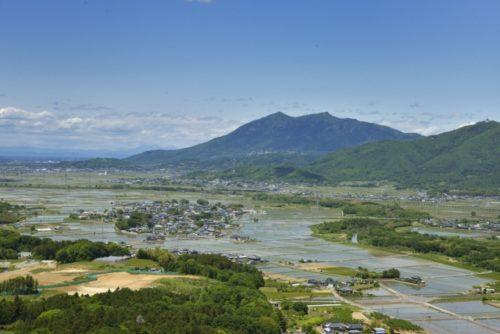 筑波山と市街地